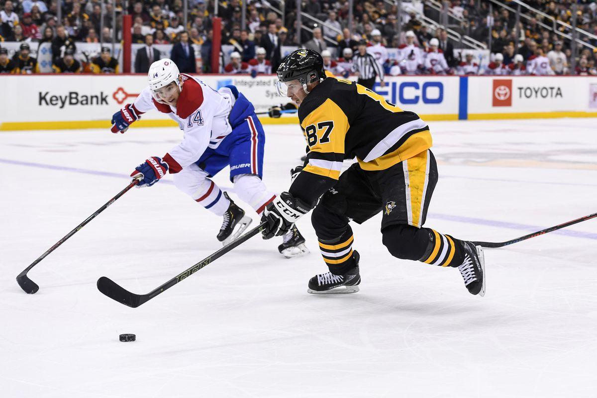 NHL: FEB 14 Canadiens at Penguins