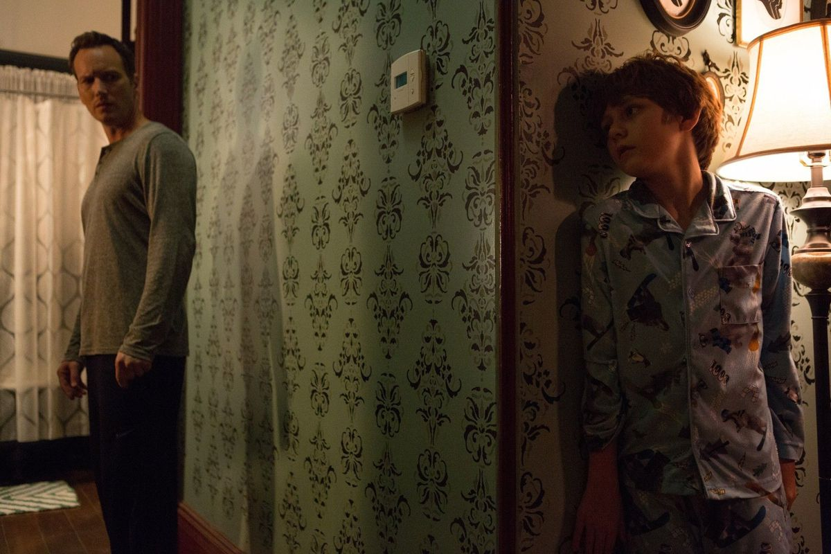 A son hides from his father in Insidious: Chapter 2.