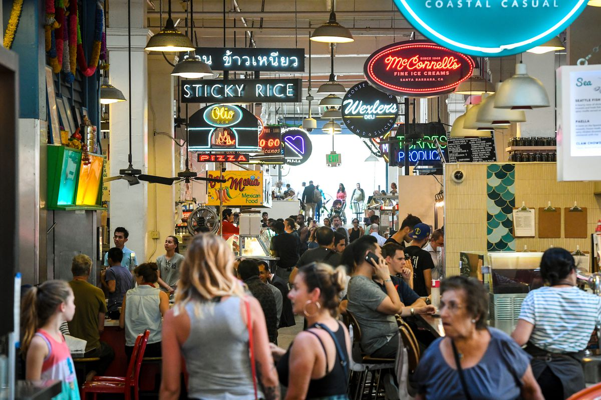 Grand Central Market in Downtown Los Angeles
