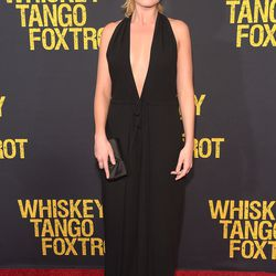 """Margot Robbie wore a plunging Valentino jumpsuit and a ponytail at the world premiere of """"Whiskey Tango Foxtrot."""" Photo: Theo Wargo/Getty Images"""