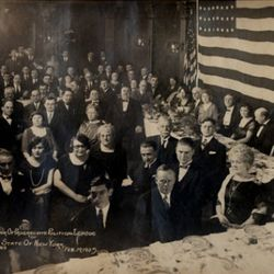 The Progressive Political League dinner in 1925, courtesy of Keens
