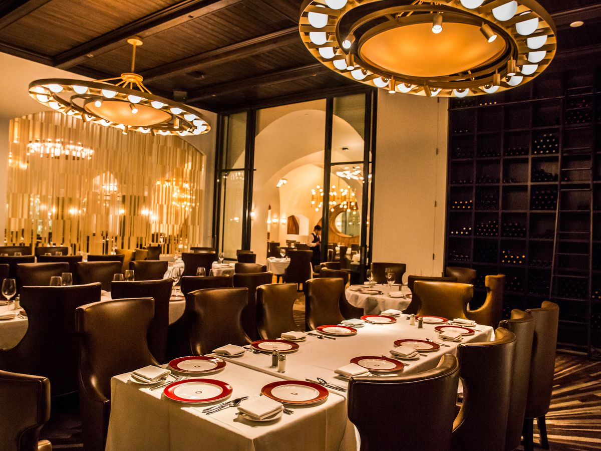 The renovated dining room at Delmonico Steakhouse