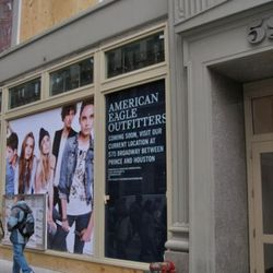 The new home of American Eagle at 599 Broadway.