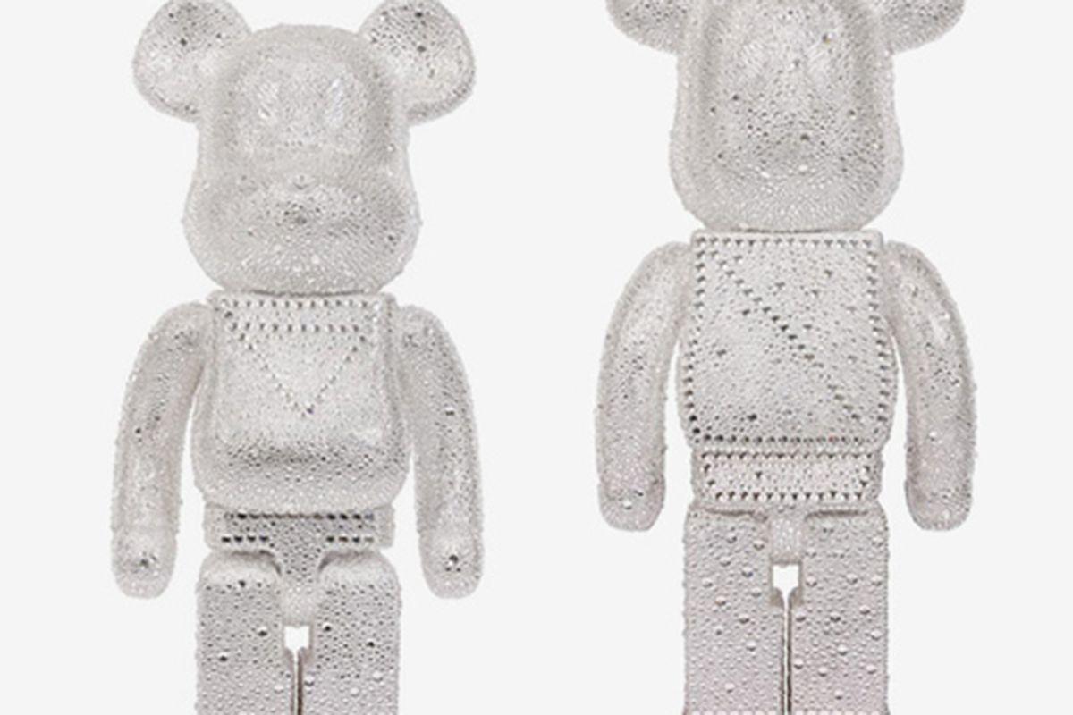 "The $22,000 Swarovski-encrusted Medicom toy is sure to be a chocking hazard. Image via <a href=""http://hypebeast.com/2009/12/swarovski-medicom-toy-beabrick-set/"">Hypebeast</a>"