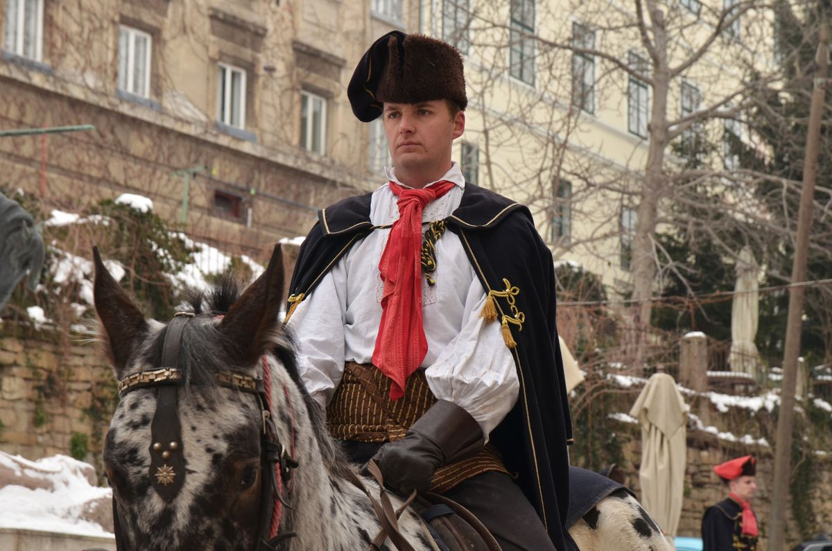 A Croatian man celebrating World Cravat Day.