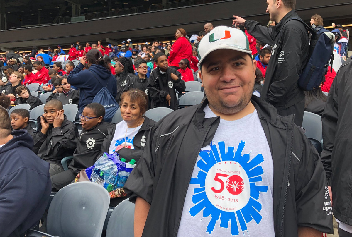 Mark Hopp said he joined Special Olympics in 2002.   Madeline Kenney/Sun-Times