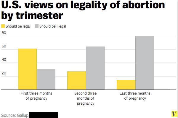 abortion views trimester