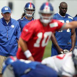 Tom Coughlin keeps an intense eye on the offense. [John Munson/The Star-Ledger via USA TODAY Sports]