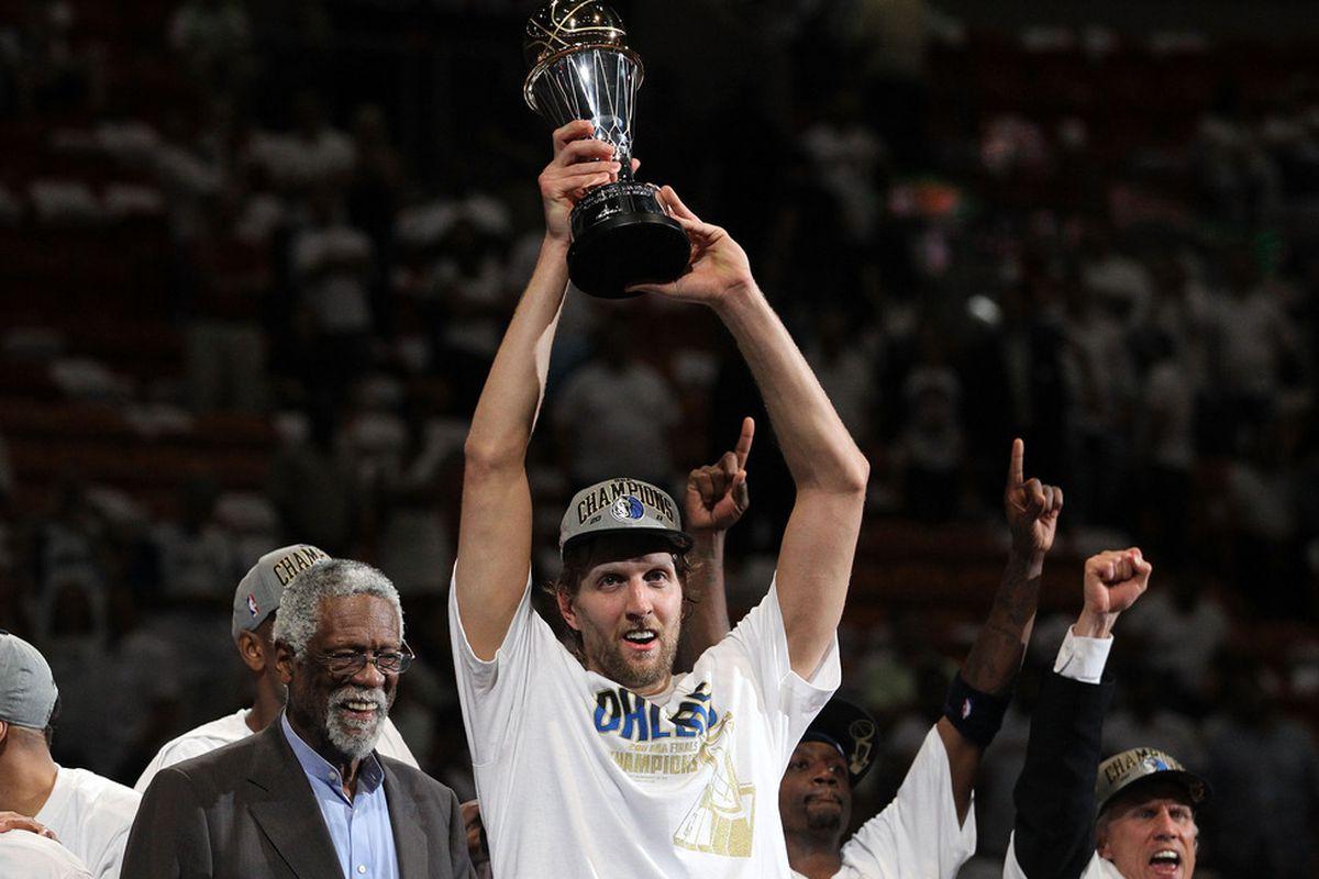 Amazing job all through the playoffs, Dirk.