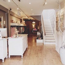 Next up is Heritage Row (2176 Chestnut Street) that specializes in women's contemporary apparel and accessories. There's a good mix of basics and designer pieces to make it the perfect stop for any budget. And the recently added home goods section is stoc