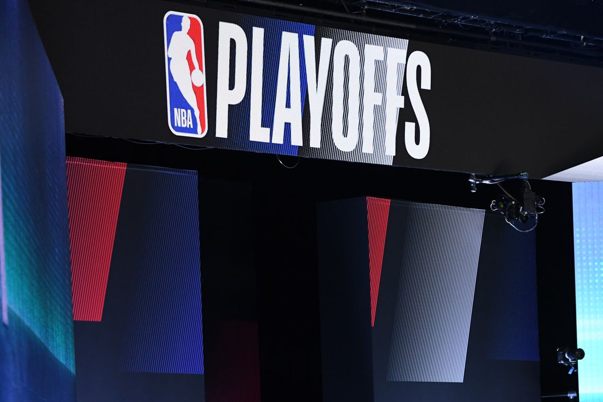 A general view of signage during the game between the LA Clippers and the Dallas Mavericks during Round One, Game Six of the NBA Playoffs on August 30, 2020 in Orlando, Florida at AdventHealth Arena.