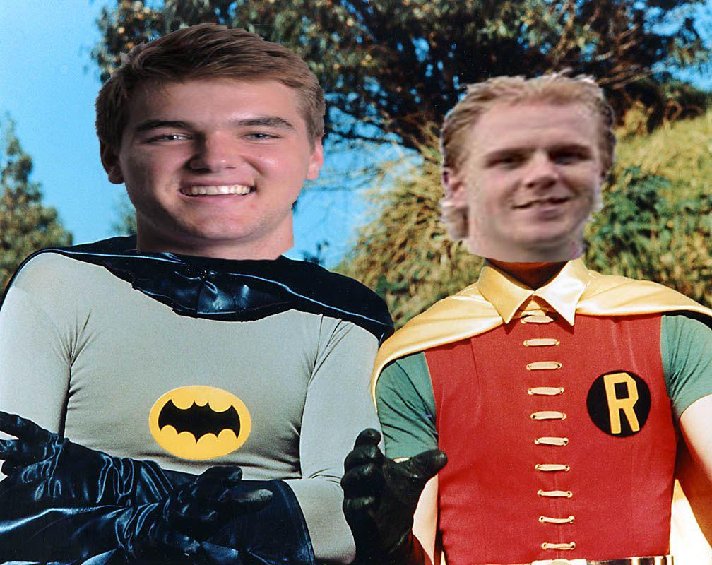 Batman Spencer and Robin Herreweyers