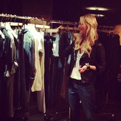 """""""@zannarassi reviewing #agjeans resort collection @marieclairemag #agluvsmarieclaire"""" - <a href=""""http://instagram.com/p/P--1a6gVk5/"""">@AGJeans</a>"""