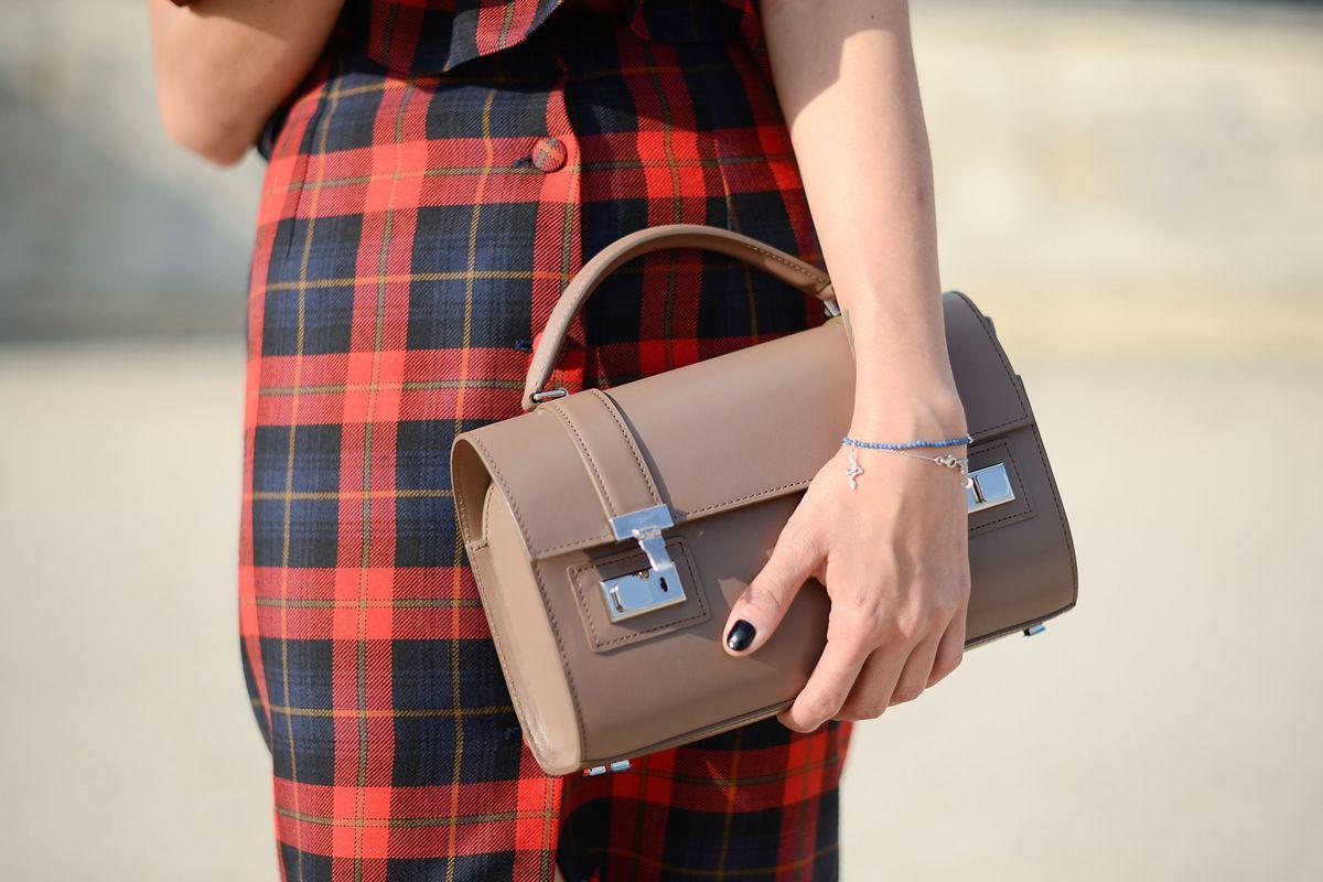 A Moynat bag at Paris Fashion Week last fall