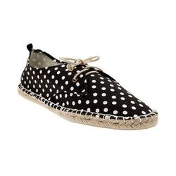 """Printed Lace-Up Espadrilles in Black Dot, $34.95 at <a href=""""http://www.gap.com/browse/product.do?cid=85615&vid=1&pid=364556052"""">Gap</a>"""