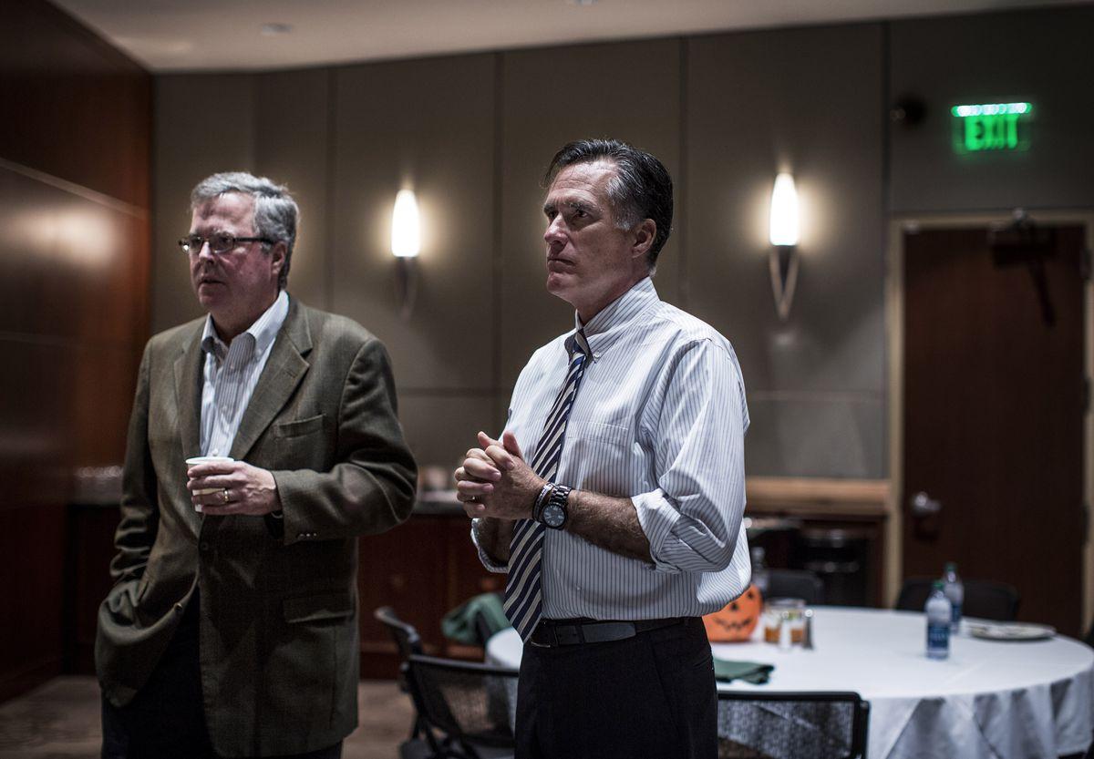 Romney and Jeb Bush