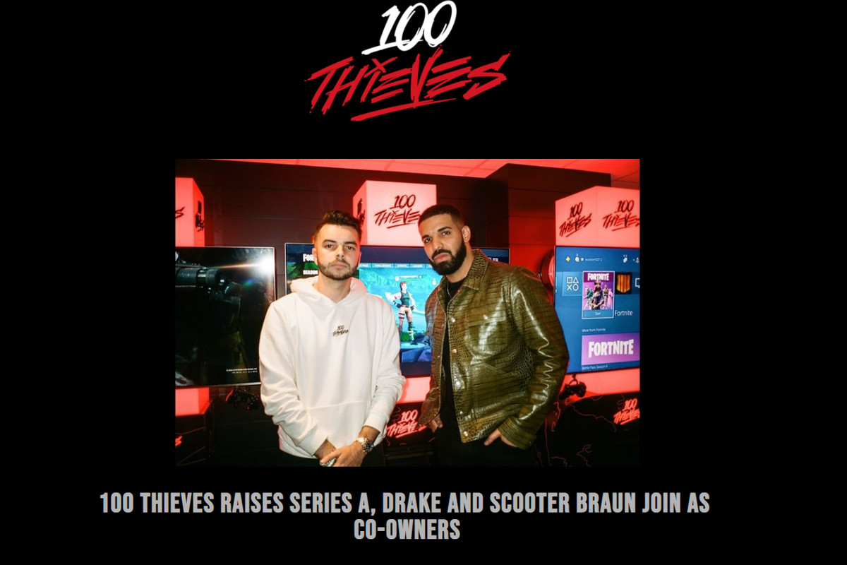 Drake is now a co-owner of esports organization '100 Thieves'