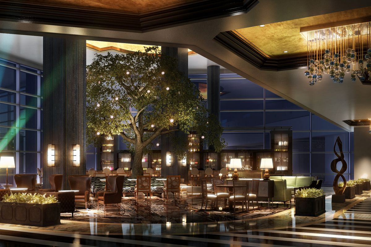 Rendering Of Fairmont Austin S Lobby Lounge Official