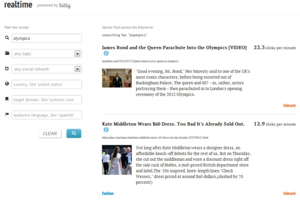 Bitly launches Realtime, a viral search engine, in private beta ...