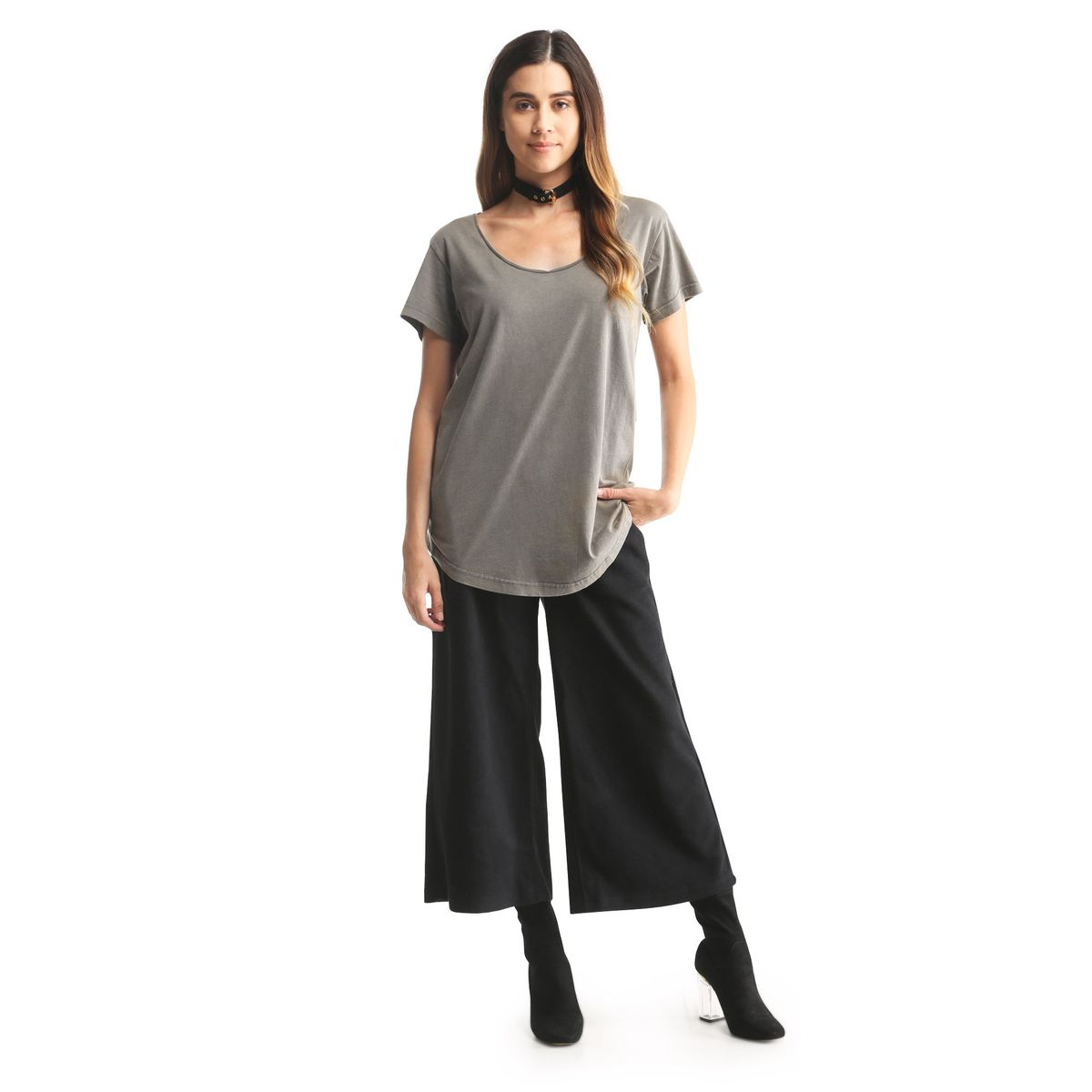 A grey T-shirt