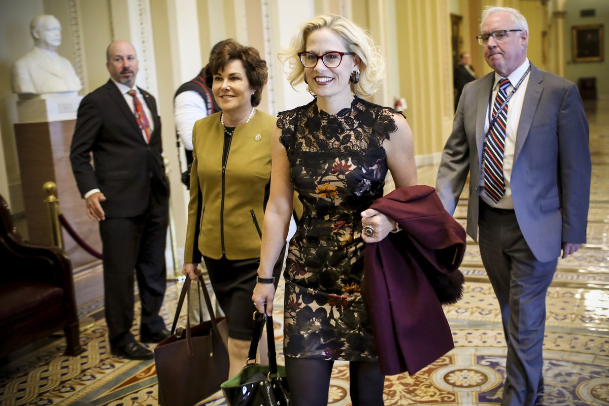 Senator-elect Kyrsten Sinema is the first openly bisexual woman to serve in the Senate.