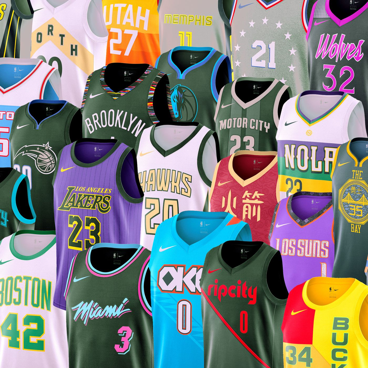 "promo code 23d3a aec34 The Best and Worst of the NBA's New ""City Edition"" Jerseys ..."