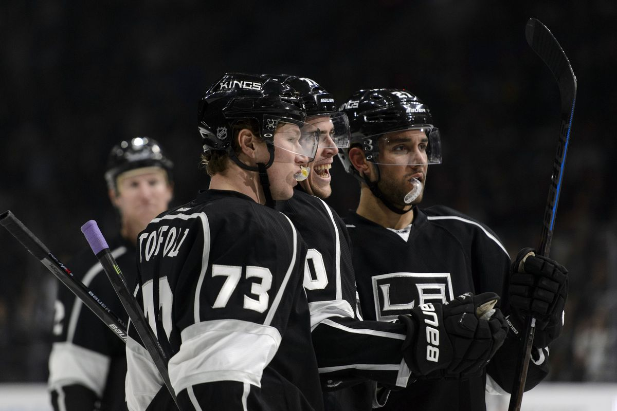 Alec Martinez (27) headlines my top pickups of the week and is seen here with two other considerations in Tyler Toffoli (73) and Tanner Pearson (70) - Photo Credit