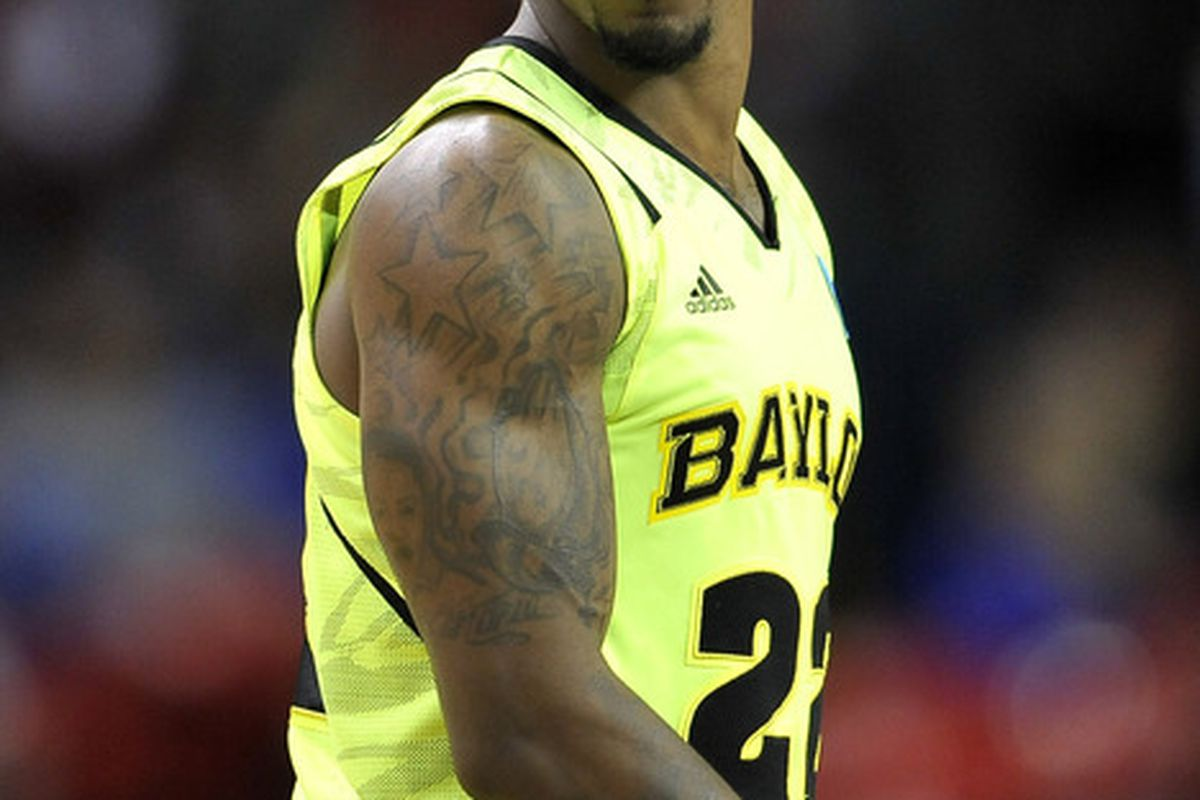 Guard A.J. Walton is shocked and appalled that Baylor can't wear the retina burning uniforms against Kentucky.