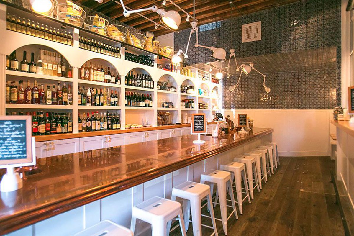 """<a href=""""http://seattle.eater.com/archives/2013/09/26/take-a-look-inside-the-cuteasabug-barnacle-bar.php"""">Barnacle Bar, Seattle</a>."""