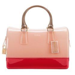 Candy Bag in Magnolia Pink, Verve Pink, and Luna Beige, $298