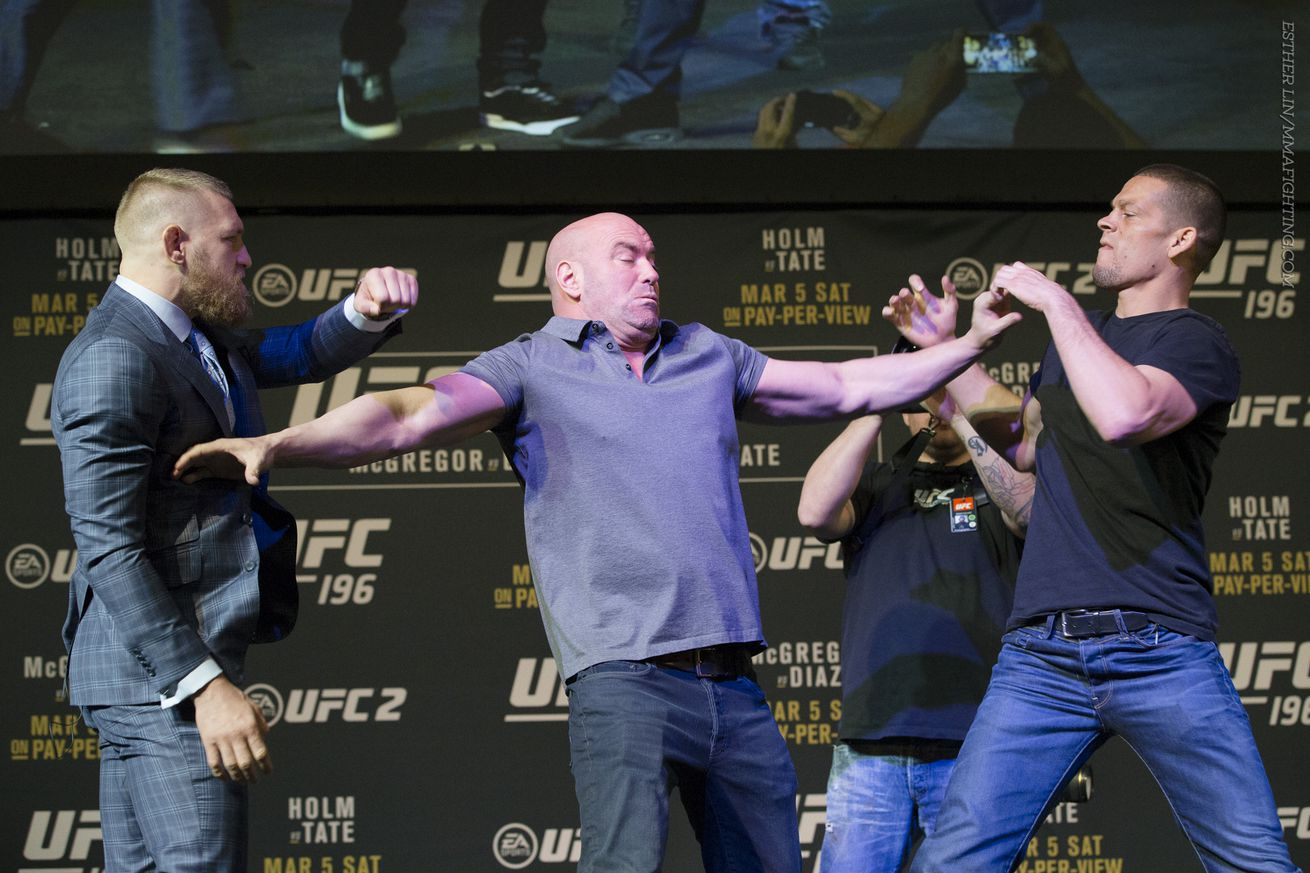 Conor McGregor and Nate Diaz will answer questions during the UFC 202 media call Friday.