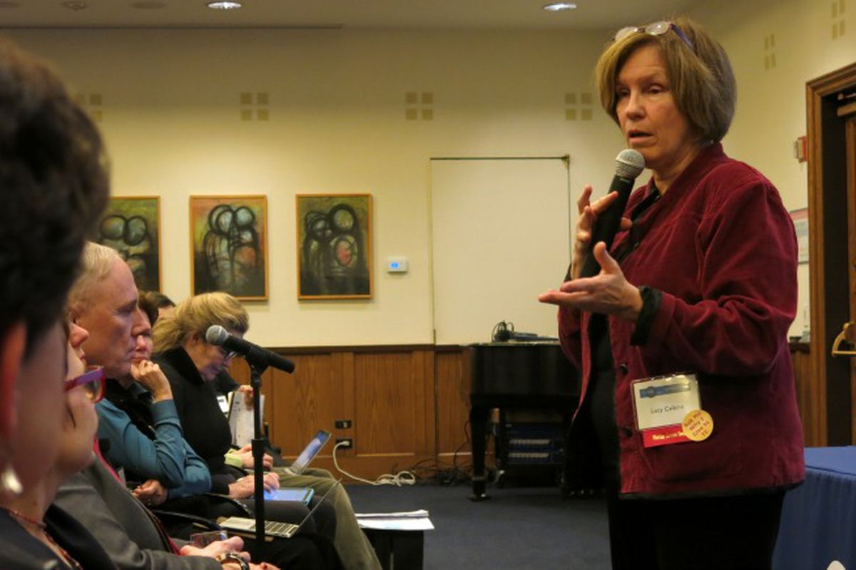 Lucy Calkins gave a talk Thursday about literacy instruction and the Common Core standards.