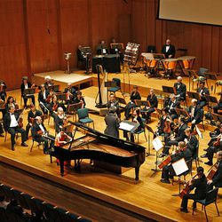 The Utah Symphony performs during the 50th anniversary Salute to Youth concert Tuesday in Salt Lake City.