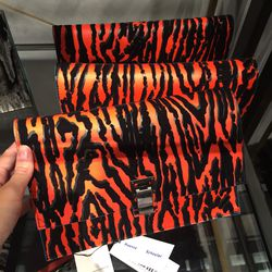 Small lunch bag in black and crimson, $199 (was $1,125)