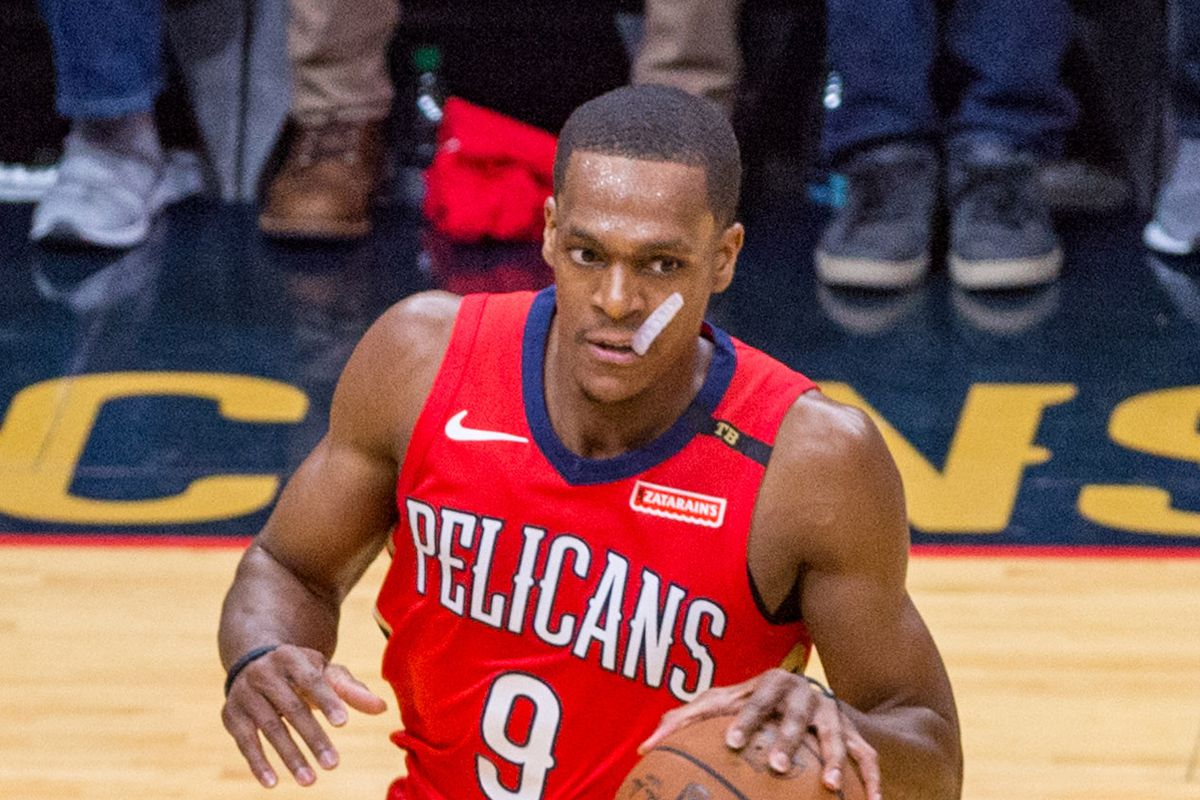 hot sale online e0983 8f666 Lakers Free Agency 2018: Rajon Rondo gets 1-year contract ...