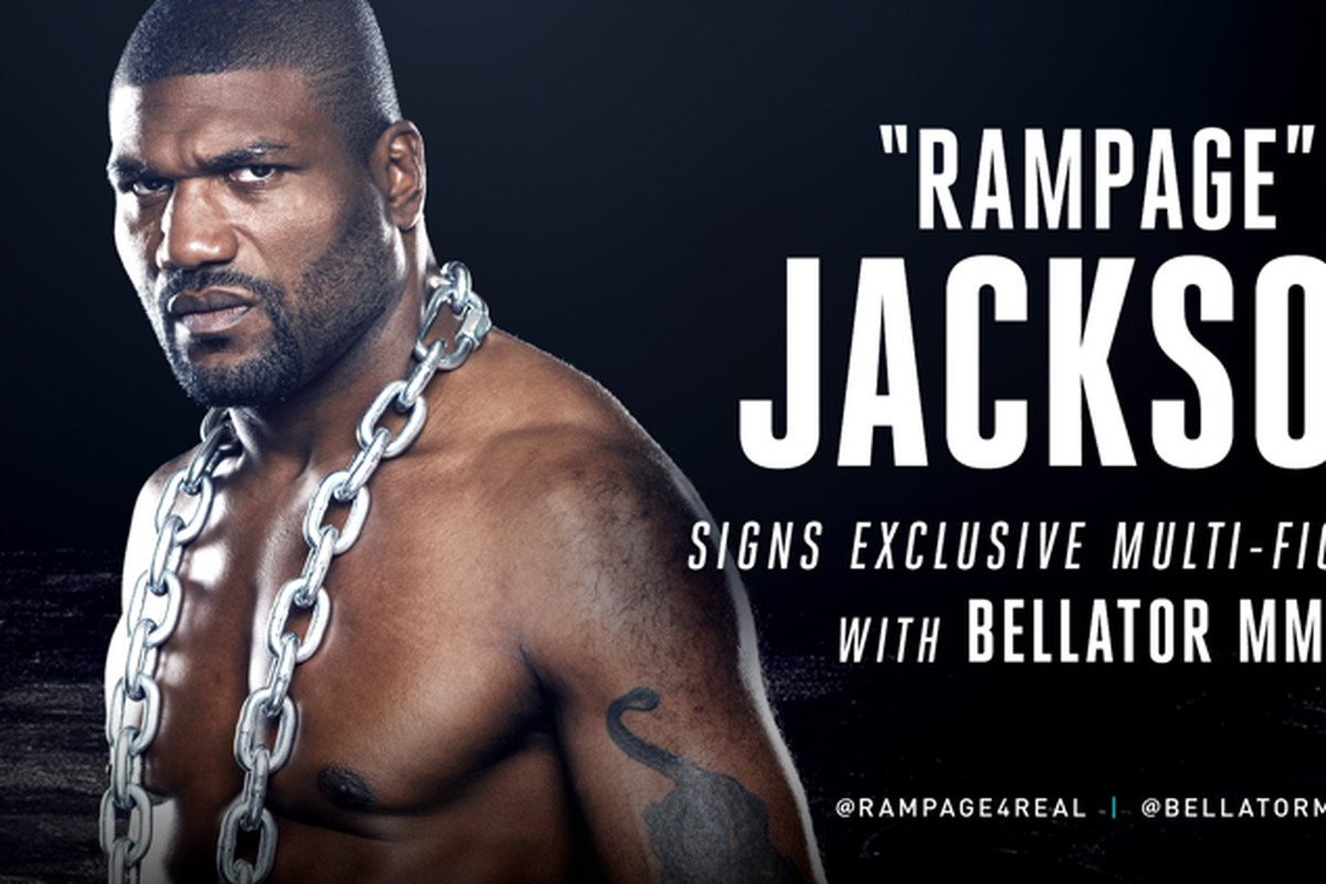 Rampage jackson signs exclusive multi fight contract with bellator rampage jackson bellator mma platinumwayz