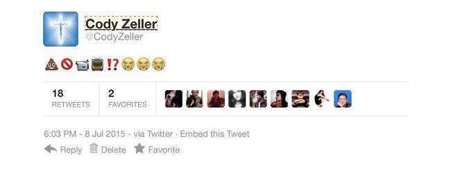 Fake Zeller tweet