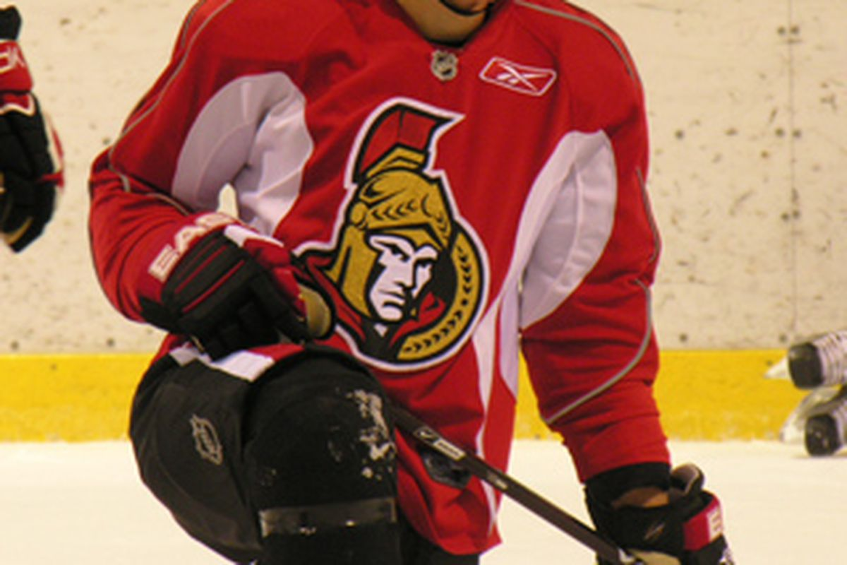 Ottawa Senators prospect Mark Borowiecki, seen here during a Senators rookie camp, was signed to a two-year entry-level deal on Friday.