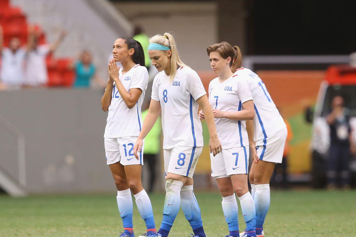 USA v Sweden Quarterfinal: Women's Football - Olympics: Day 7
