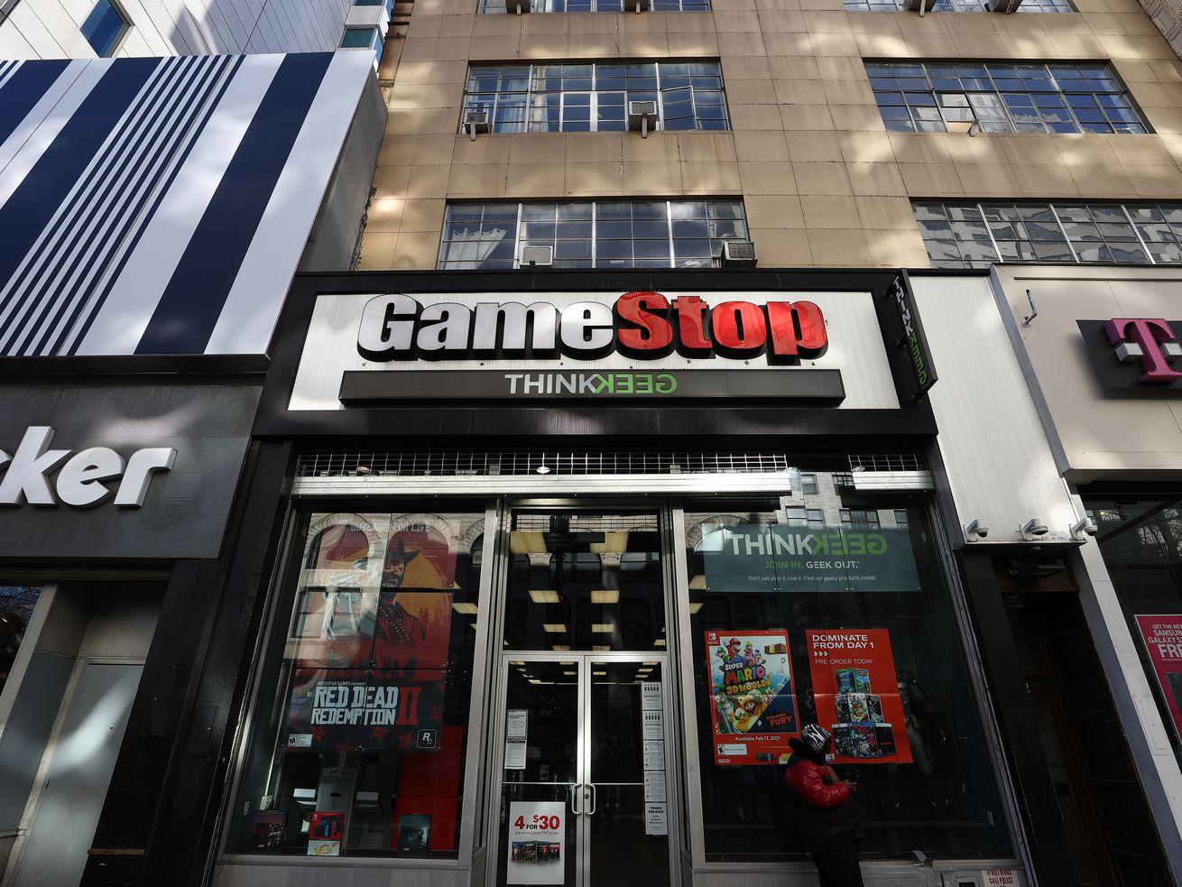 GameStop shop in Manhattan.