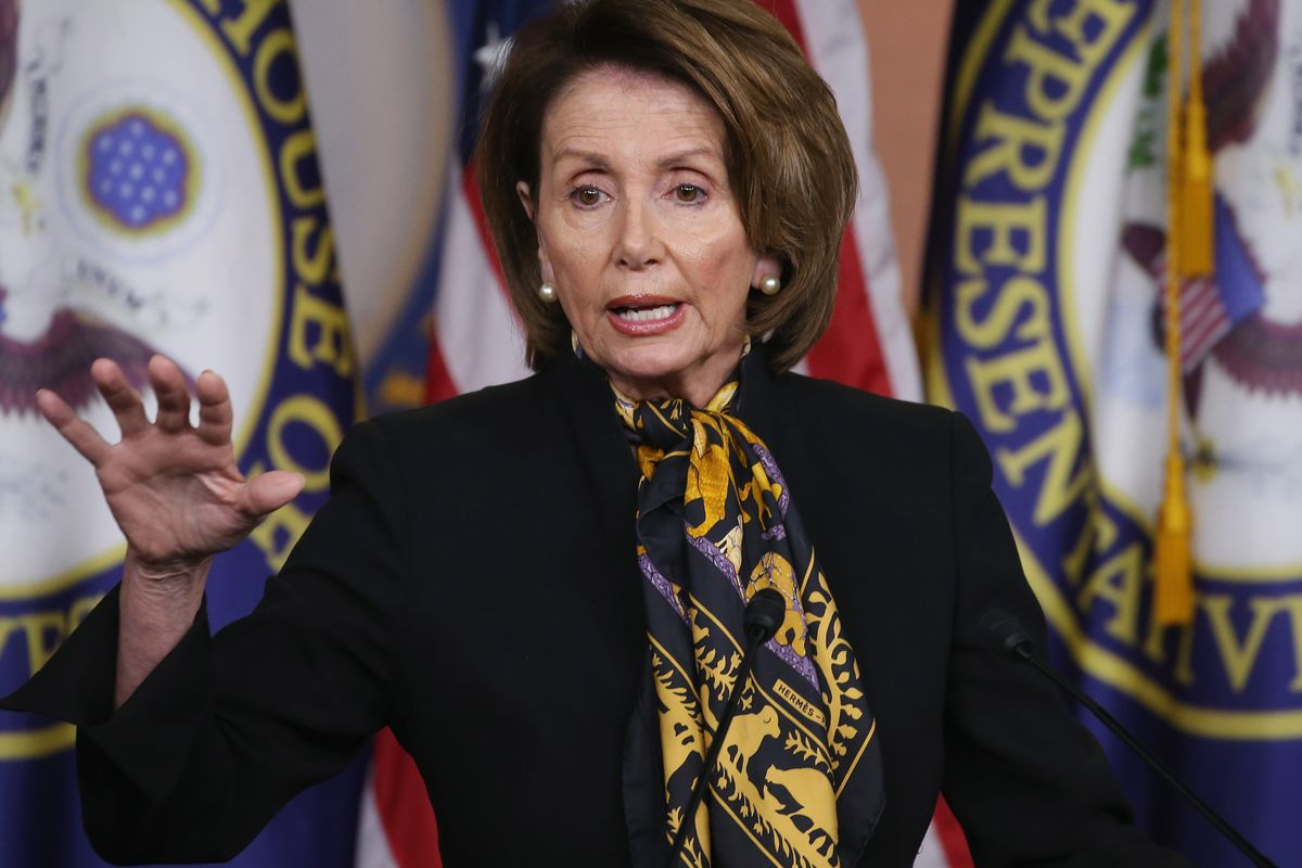 House Minority Leader Nancy Pelosi (D-CA) speaks to the media on Capitol Hill May 21, 2015, in Washington, DC. Pelosi spoke about issues before Congress during her weekly news conference.