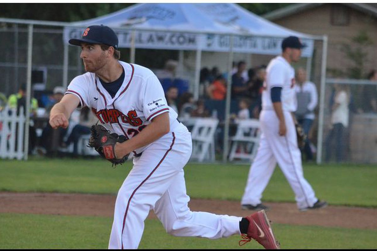 Sean Conroy warms up prior to Thursday's start.