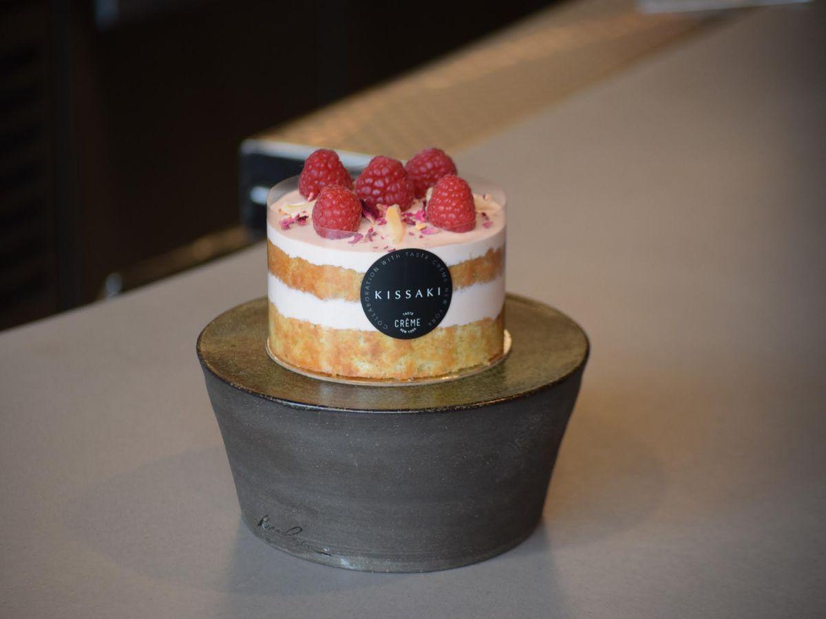 Raspberry rose chiffon cake from Kissaki