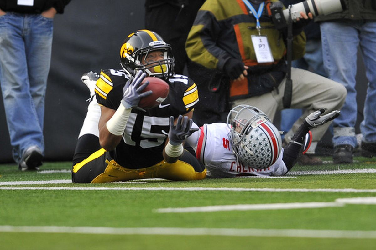 Iowa got DJK out of Ohio.  Might there be more Ohioans in Iowa's football future? (Photo by David Purdy/Getty Images).