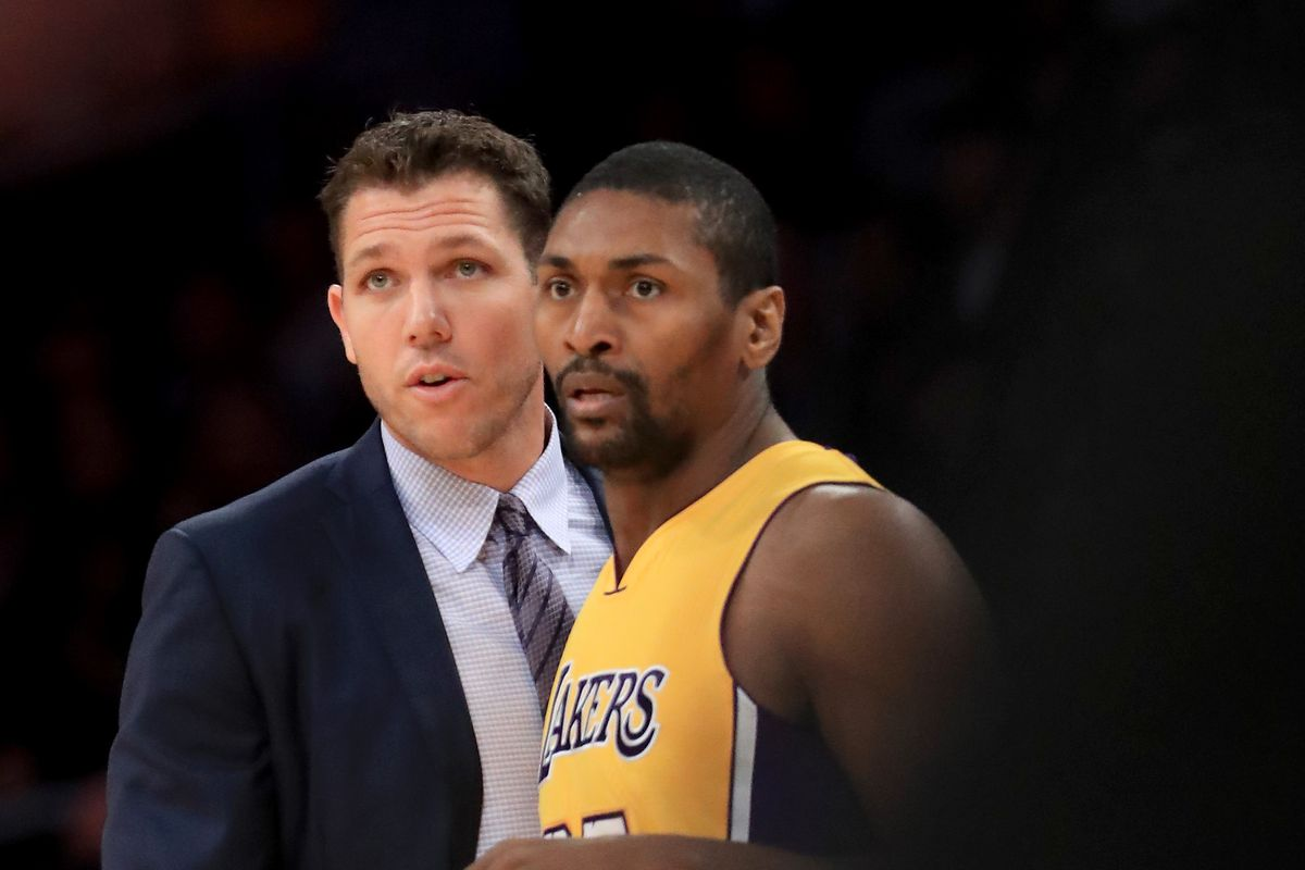 cbb4b9205ba Metta World Peace is the newest assistant coach for the Lakers  G-League  team