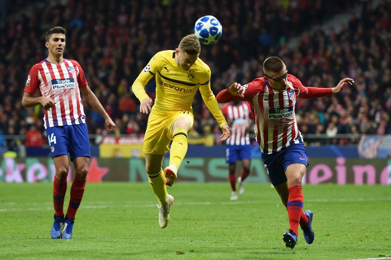 Match Ratings: Borussia Dortmund 0:2 Atletico Madrid