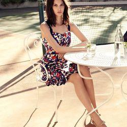 "<a href=http://www.toryburch.com/The-Floral-Camo-Dress/floralcamodress,default,pd.html?start=4&cgid=newarrivals-lookbook"">Printed Berdine dress</a>"