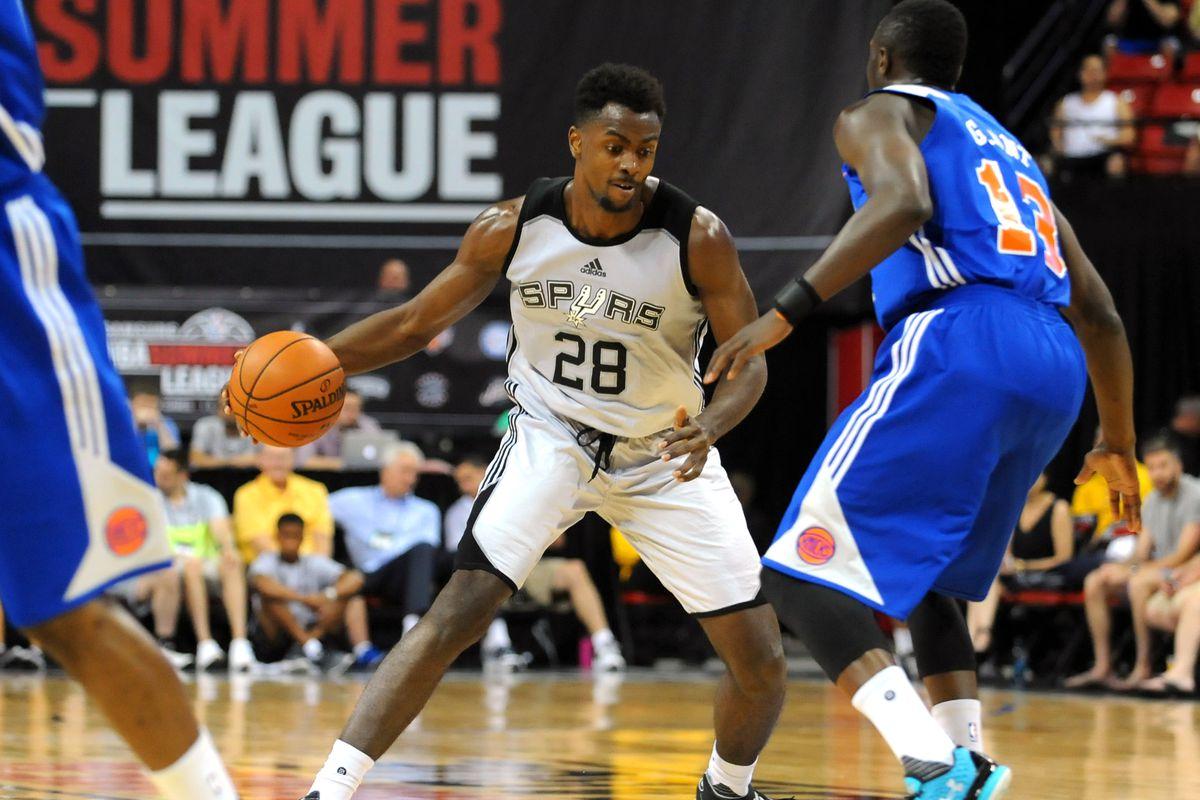 NBA: Summer League-New York Knicks vs San Antonio Spurs