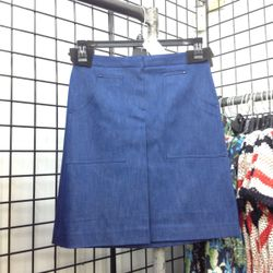 Pair this denim skirt ($65) with a silk blouse in the office or with a cropped off-the-shoulder top after hours.