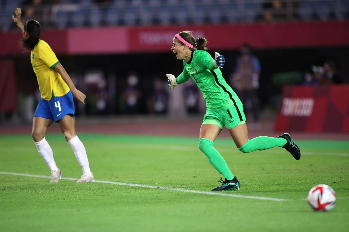 Canada v Brazil: Women's Football QuarterFinal - Olympics: Day 7